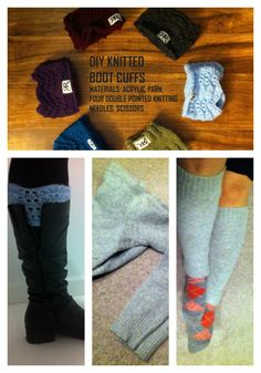 Make your own boot cuffs. This is a two in one blog post. Includes knitting instructions and a DIY upcycle for old sweaters. Take your pick!