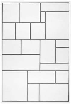 Modrian-inspired Grid Diy Toys Easy, Easy Diys For Kids, Wall Patterns, Textures Patterns, Quilt Patterns, Paver Patterns, Geometric Patterns, Mondrian Art, Wall Panel Design