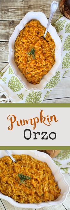 Easy Pumpkin Orzo recipe