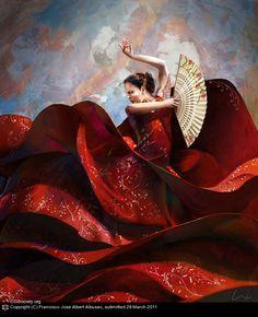 flamenco by Francisco Jose Albert Albusac | 2D | CGSociety via PinCG.com