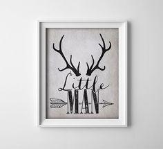 "INSTANT DOWNLOAD 8X10"" Printable Digital art file ""Little Man"" Nursery art - black grey - antlers - arrow - baby boy by ThePrintAnnex on Etsy https://www.etsy.com/listing/191436750/instant-download-8x10-printable-digital"