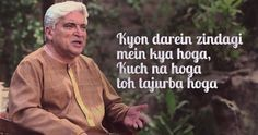 These Poignant Shayaris By Javed Akhtar Are An Absolute Treat For Your Heart And Soul Love Poetry Urdu, Poetry Quotes, Piyush Mishra Quotes, Movie Quotes, Book Quotes, Epic One Liners, Gulzar Poetry, Bollywood Quotes, Indian Quotes