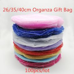 Cheap Gift Bags & Wrapping Supplies, Buy Quality Home & Garden Directly from China Suppliers:100pcs Multi Round organza gift bags 26 35 40cm party bag for women wed Drawstring bag Jewelry Display Bag Pouch diy accessories Enjoy ✓Free Shipping Worldwide! ✓Limited Time Sale ✓Easy Return. Cheap Gift Bags, Candy Packaging, Bag Display, Drawstring Pouch, Organza Gift Bags, Diy Accessories, Jewellery Display, Pouches, Wrapping