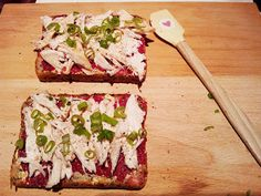 Chicken, Spring Onion and Beetroot Hummus Sandwich | Hungry Hubby's Lunches