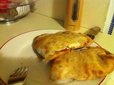 I've been at it again! What to do with leftover Meatballs and Sauce and Sourdough Pizza Dough? Make calzones of course!