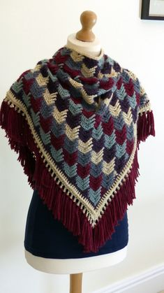 Arrow Tails Shawl - A free crochet pattern from Make My Day Creative