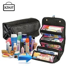 XZHJT Portable Women Large Cosmetic Bag Makeup Bag Travel Toiletry Pouch Bag Storage Make Up Organizer Toiletry Case Beauty