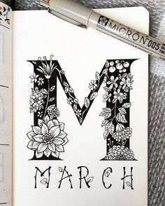 March bullet journal art