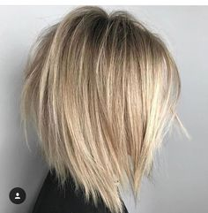50 Trendy Inverted Bob Haircuts Inverted Ash Blonde Balayage L. Inverted Bob Haircuts, Medium Bob Hairstyles, Straight Hairstyles, Neck Length Hairstyles, Haircut Medium, Pixie Haircuts, Braided Hairstyles, Straight Hair Bob, Layered Bob Thick Hair