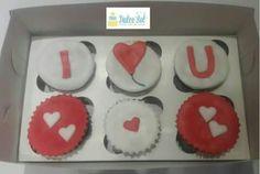 Cupcakes de chocolate. Modelo I ♥ U
