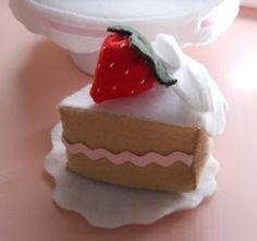 Patrones torta de fieltro y paso a paso