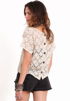 Lazy Day Lace Top from threadsence. $32.00. I saw a girl wearing a similar top the other day and have been scouring the internet ever since for a similar one at an affordable cost.