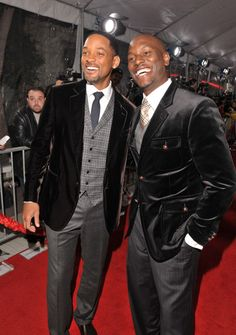 Will and Tyrese. Very well done, gentlemen. Very well done, indeed. The velvet blazer is worn well.