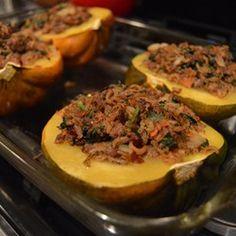 Venison and Wild Rice Stuffed Acorn Squash - Allrecipes.com
