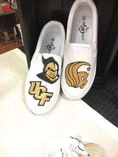 cc79379b7267d3 UCF Custom Made college team shoes Hand painted shoes - made to order