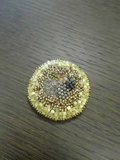 刺繍ブローチ maru 黄色の画像2枚目