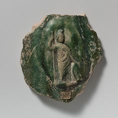 Terracotta vase fragment with relief of Minerva, 1st c. A.D., Early Imperial Roman.  Metropolitan Museum of Art, New York
