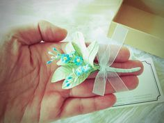 A handmade box and forget-me-not.