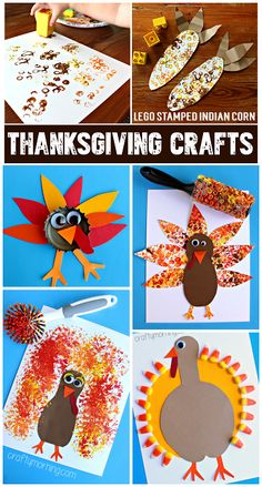 Clever Thanksgiving Crafts for Kids to Make! (Find turkeys, indian corn, pilgrim hats, and more!) | CraftyMorning.com