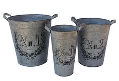 S/3 Botanica Flower Buckets on OneKingsLane.com. These would be great to hold items for my craft room