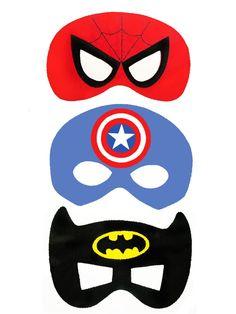 superhero printable masques photobooth - photocall party