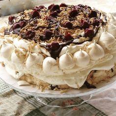 Az új kedvenc: spanyol széltorta   Mai Móni Cookie Recipes, Dessert Recipes, Meringue Pavlova, Cakes And More, Biscotti, Tiramisu, Panna Cotta, Food And Drink, Pie