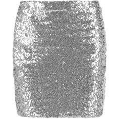 Ildiko Sequin Mini Skirt ($18) ❤ liked on Polyvore featuring skirts, mini…