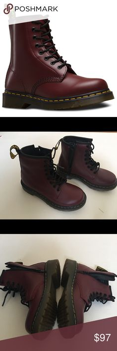 Dr. Martens Cherry Red Women's 1460 Smooth BootsBooties Size US 9 Regular (M, B) 48% off retail