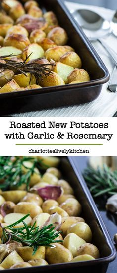 Roasted new potatoes with rosemary and garlic – Fluffy on the inside, crispy on the outside, really delicious and very simple to prepare.