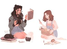 A couple of modern day witches gif/animated version on my tumblr & twitter (same username)