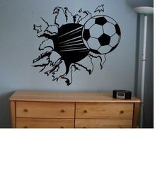 Soccer Ball sticker decal kids room decor sports football large bedroom wall big #American