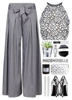 """Elegant Monochrome"" by lover-of-pie ❤ liked on Polyvore featuring Keepsake the Label, Yves Saint Laurent, CO, Chanel, NARS Cosmetics, Rosanna and Marie Jeanne"