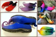 Fairy shoes/ felted home slippers MADE TO ORDER by zavesfelt, $65.00