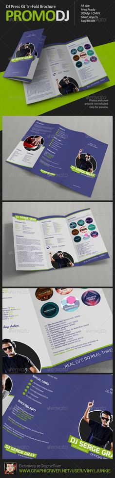 35 best dj press kit and dj resume templates images in