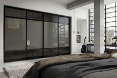 Epic Slate Grey Bedroom Decoration Ideas Gray Perfect Limelight Bedstead In Free Fitted Sliding Door Wardrobes Pd Designs With Interior Design Bedroo Luxury Wardrobe, Wardrobe Design Bedroom, Sliding Door Wardrobe Designs, Wardrobe Doors, Home Bedroom, Bedroom Decor, Dark Wood Bedroom Furniture, Fitted Wardrobes, Luxurious Bedrooms