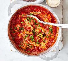 Serve this delicious chicken and chorizo ragu over rice or pasta as an easy midweek dinner for the family. You can freeze any leftovers for another day Bbc Good Food Recipes, Healthy Recipes, Dinner Recipes, Cheap Recipes, Dinner Ideas, Bbc Recipes, Savoury Recipes, Healthy Foods, Pan Dulce