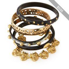 Ashley Pittman Nadra Dark Horn Bracelets