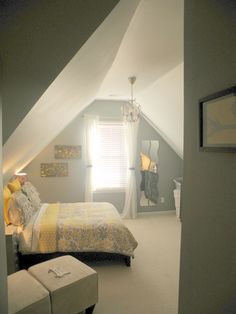 master bedroom- attic.