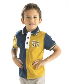 Polo garçon bicolore manches courtes - Polo, T-Shirt Mode Enfant garçon Terre de Marins