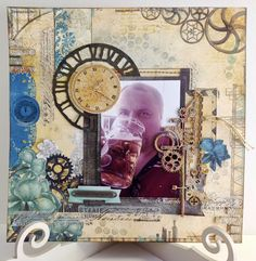 Scrapbook layout using Bo Bunny's Somewhere in Time collection for The Craftz Boutique. www.keepsakesinthemaking.blogspot.co.uk
