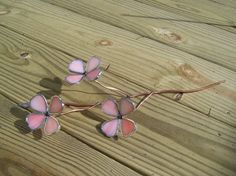 3-D Copper Foil Dogwood Flowers with copper tubing & copper wire.