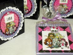 Lembrancinha feita para festa Monster High -venda das peças e papéis pela loja virtual www.scrapjackie.com