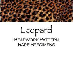 Leopard Fur Print Peyote Stitch Beadwork Pattern - Cuff Bracelet - Bookmark - PDF instant download Peyote Stitch Patterns, Seed Bead Patterns, Beaded Bracelet Patterns, Beading Patterns, Embroidery Patterns, Beaded Jewelry, Diy Jewelry, Jewellery, Peyote Beading