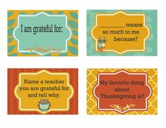 Create meaningful conversation with these free printable Thanksgiving Dinner Conversation Cards.