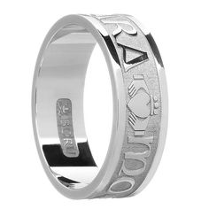 bfb84f4ee189c2 sterling silver or white gold men's mo anam cara band ring Wedding Ring  Designs, Wedding