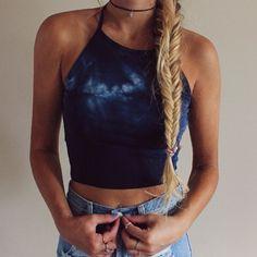 Brandy Melville Tie Dye sachi Cami Crop Tank top Nwt Osfm #brandymelvilleJohnGalt #TankCami #Casual