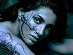 fantasy wallpaper and backgrounds | Blue Girl Fantasy Wallpaper Download