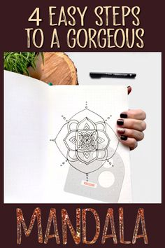Grab your Tombow MONO drawing pen and your Compass Protractor and join us in making a mandala in four easy steps. Bullet Journal Gifts, Bullet Journal Christmas, December Bullet Journal, Bullet Journal Stencils, Bullet Journal Hacks, Bullet Journal Spread, Easy Drawing Steps, How To Make Drawing, Tombow Markers