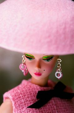 Mademoiselle Barbie, in pink.