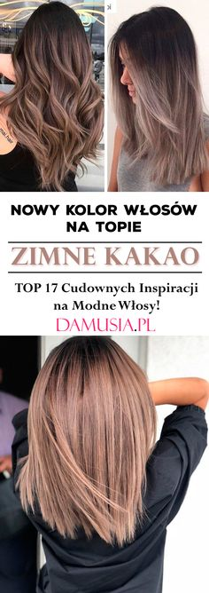 Nowy Kolor Włosów na Topie! Zimne Kakao - TOP 17 Cudownych Inspiracji na Modne Włosy! Hair Cuts, Make Up, Images, Hair Beauty, Long Hair Styles, Hairstyles, Fashion, Hair Coloring, Brunettes